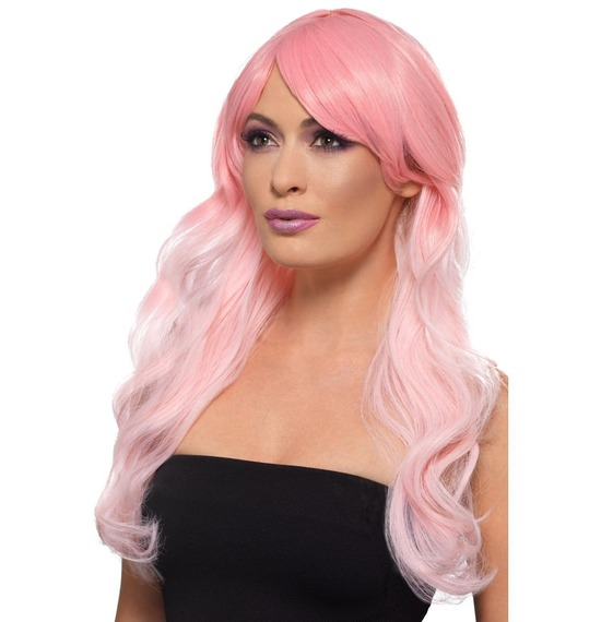 Fashion Ombre Wig, Pastel Pink