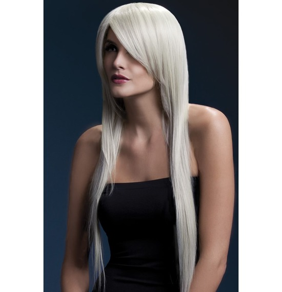 Fever Amber Wig, Long, Straight With Long Fringe, Blonde