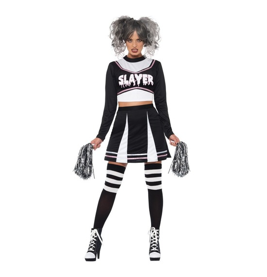 Fever Gothic Cheerleader Costume by Smiffys