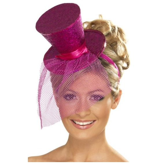 Fever Mini Top Hat Pink