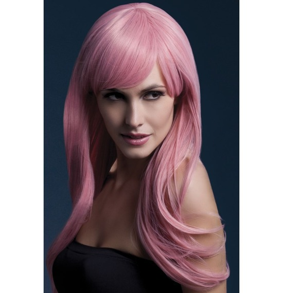 Fever Sienna Wig, Long, Wavy,Pink