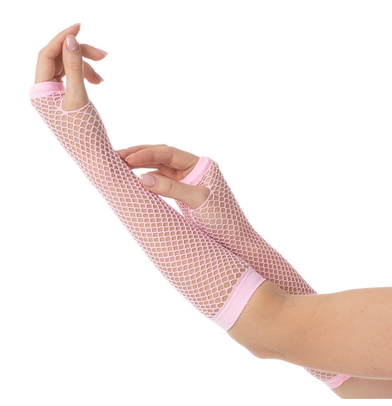 80's Baby Pink Gloves