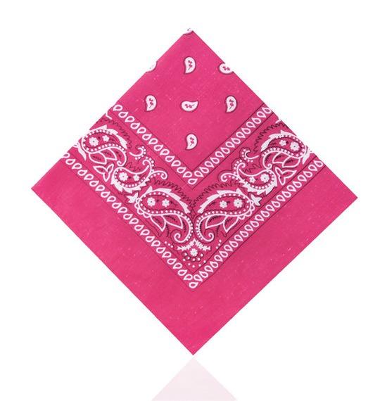 Hot Pink Paisley Bandana