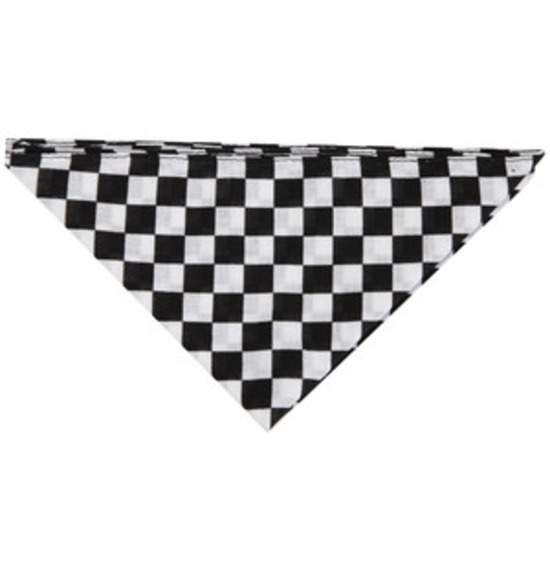 Black and White Bandana