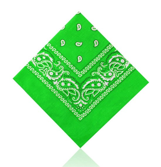 Bright Green Paisley Bandana