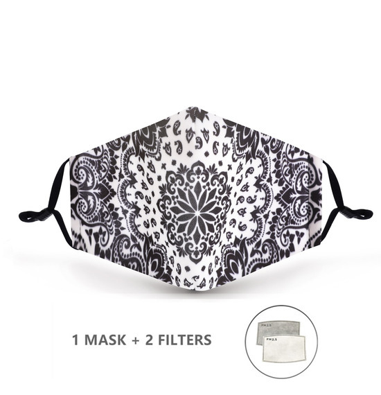 Black White Pattern Face Mask