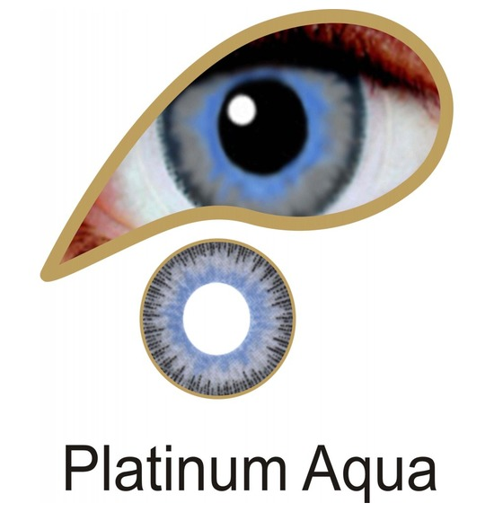 Platinum Aqua Contact Lenses