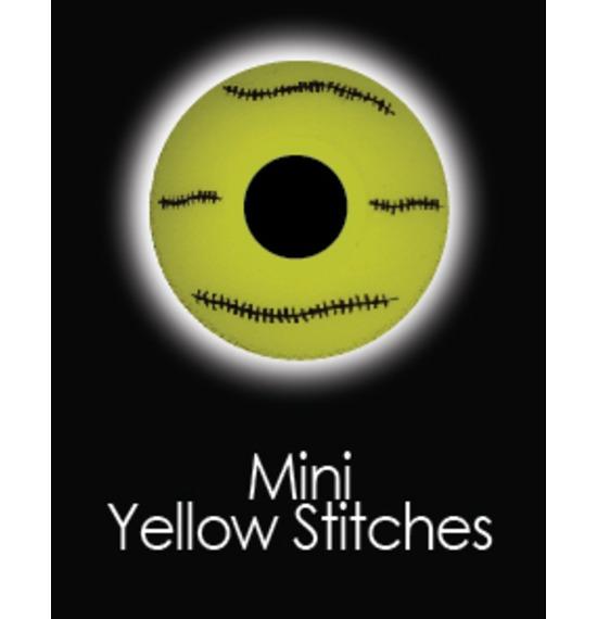 Mini Sclera Yellow Stitches Contact Lenses