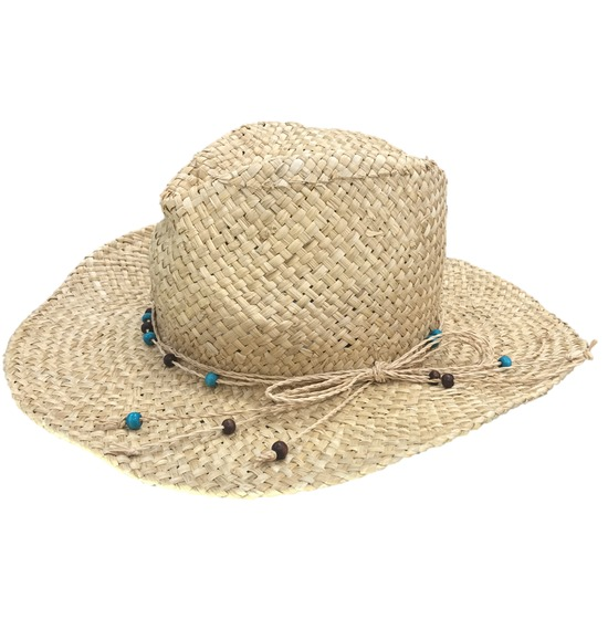 Beaded Straw Hat