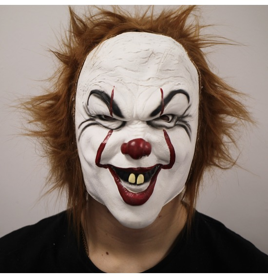 Crazy Clown Latex Mask