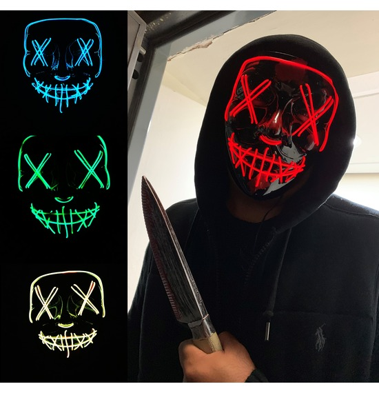 Crazy Smile LED Masks