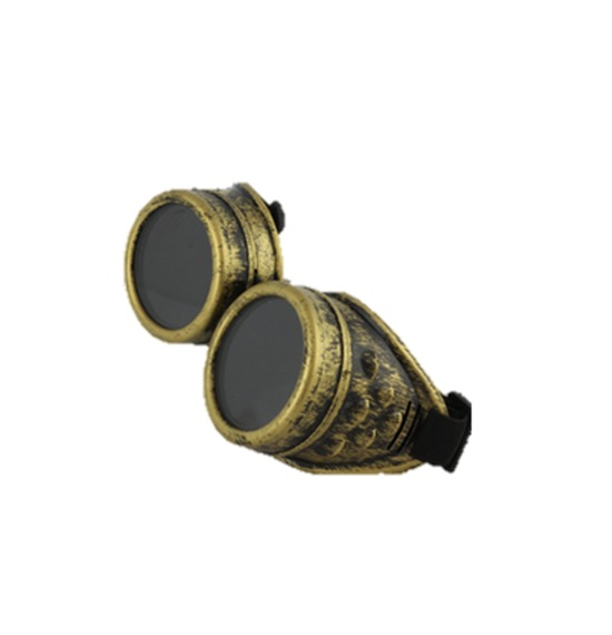 Gold Retro Goggles