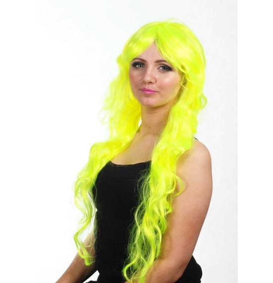 Neon Yellow Wavy Wig