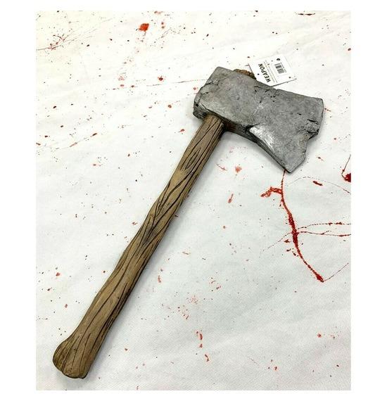 Realistic Foam Wooden Axe Weapon