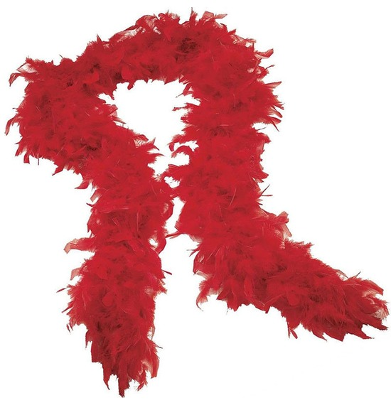 Luxury Feather Boa Red