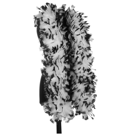 Luxury Feather Boa Black and White