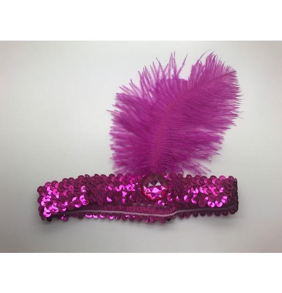 Flapper Headband Hot Pink