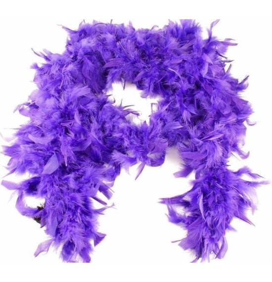 Luxury Feather Boa Purple