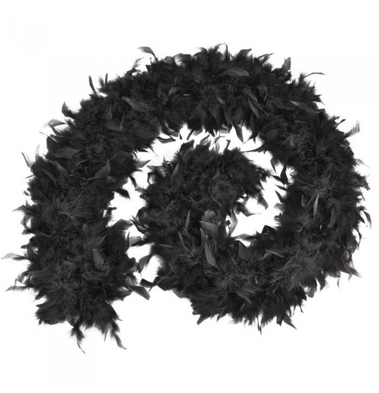 Luxury Feather Boa Black