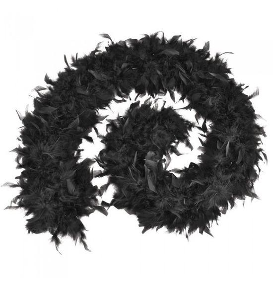 Luxury Feather Boa Black