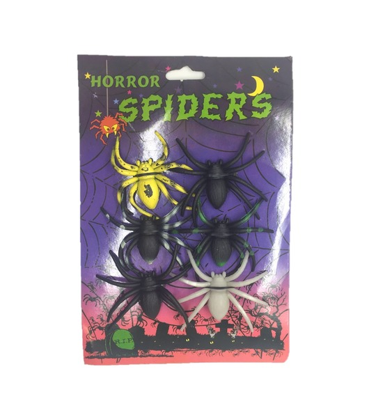 Pack of 6 Spiders Decorations