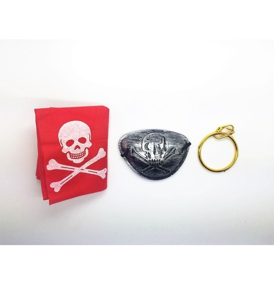 Pirate Eye Patch Set Silver