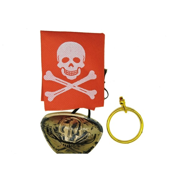 Pirate Eye Patch Set Gold