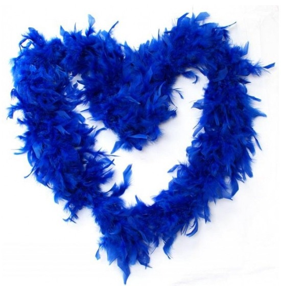 Luxury Feather Boa  Blue