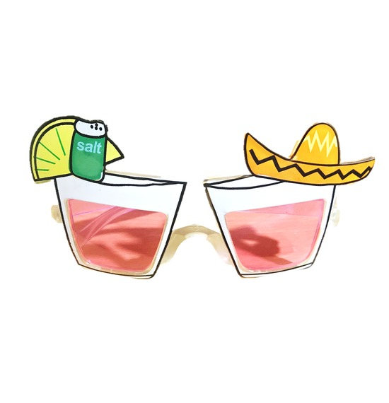 Pink Mexican Glasses