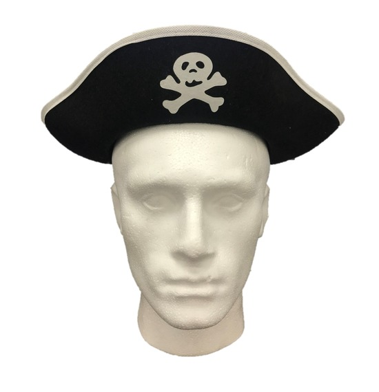 White Trim Pirate Hat