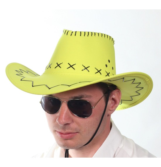 Neon Yellow Cowboy Hat