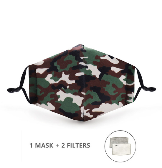 Camping Camouflage Face Mask