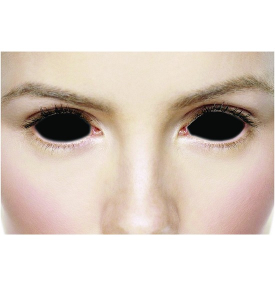 Mesmereyez Sclera Possessed Black Contact Lenses