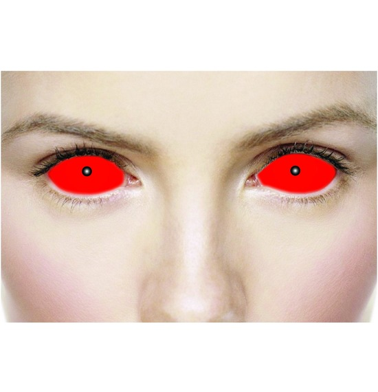 Mesmereyez Sclera Satanic Red Contact Lenses