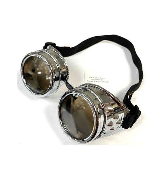 Silver Retro Goggles