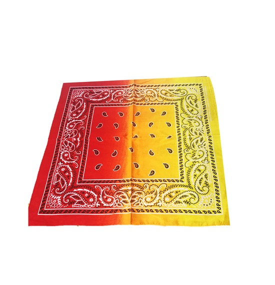 Red Yellow Paisley Bandana