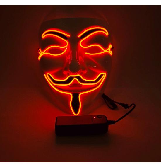 LED Smile Mask, Red