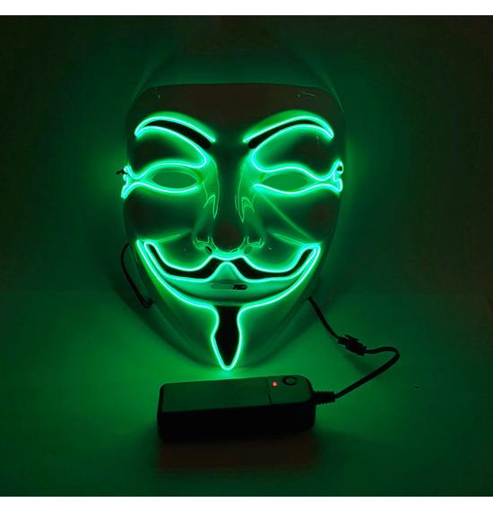 LED Smile Mask, Green