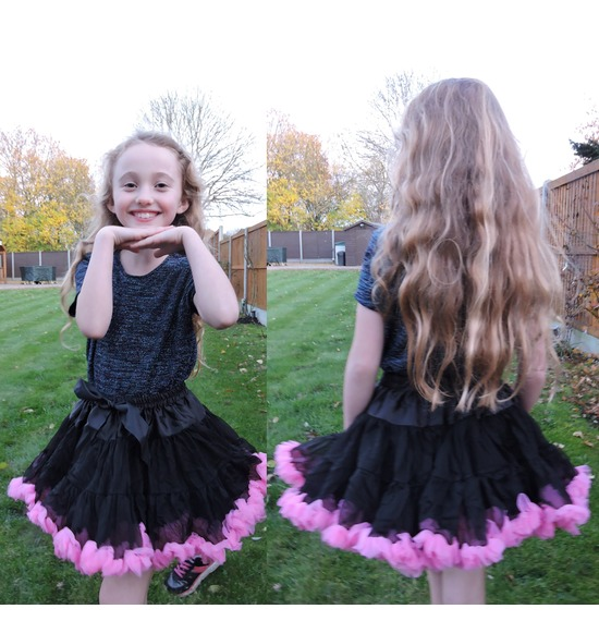 Childrens Luxury Black Pink TUTU