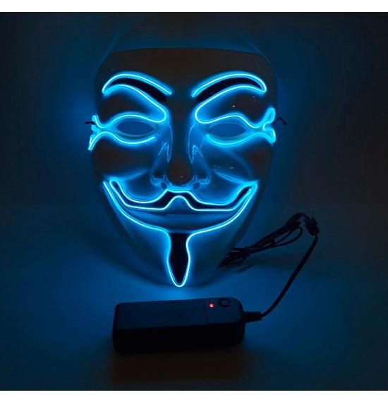 LED Smile Mask, Blue