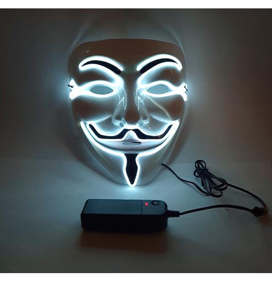 LED Smile Mask, White