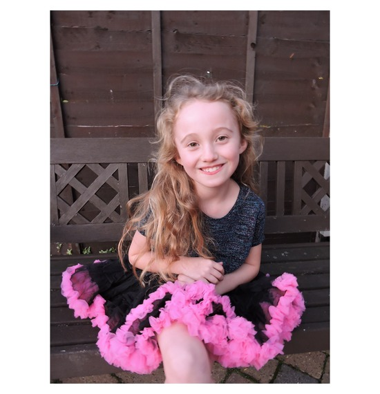 Childrens Luxury Black Pink TUTU