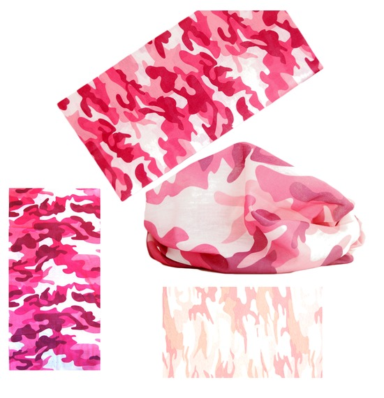 Assorted Pink Camo Bandana Multi Use