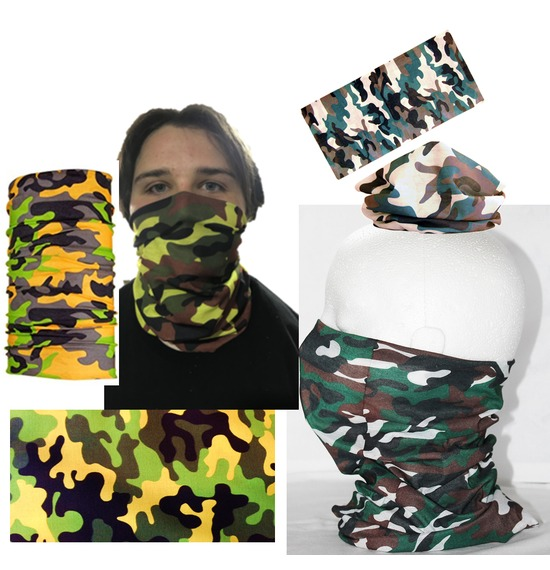 Assorted Green Camo Bandana Multi Use