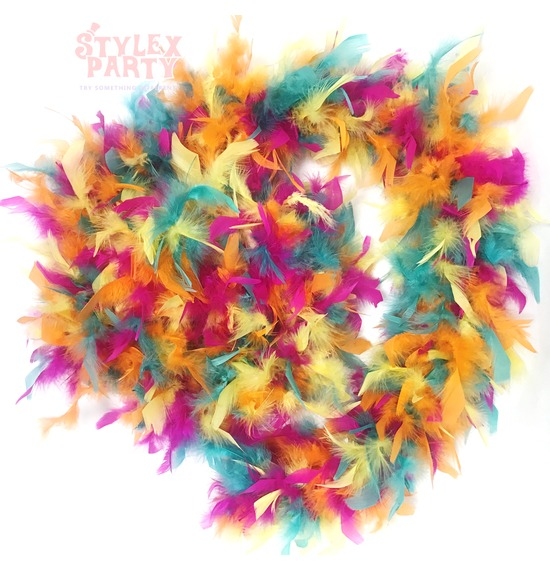 Luxury Feather Boa Multicoloured 95grams