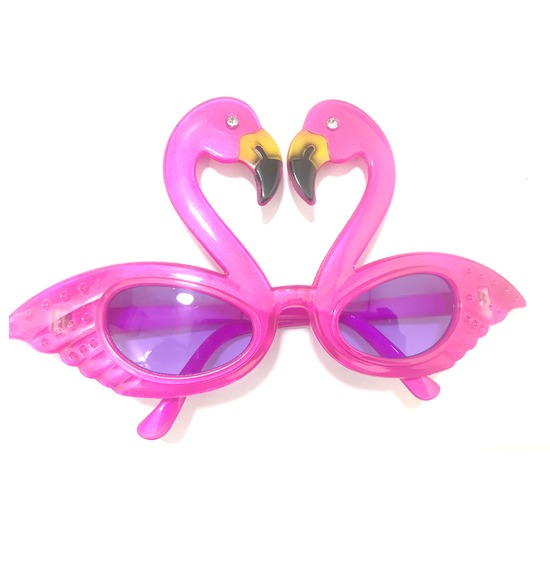 Pink Hawaiian Flamingo Sun Glasses