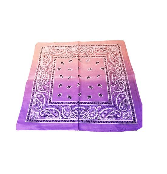 Purple Pink Paisley Bandana