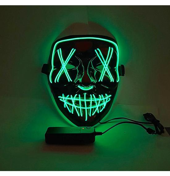 LED Stitches Mask, Green