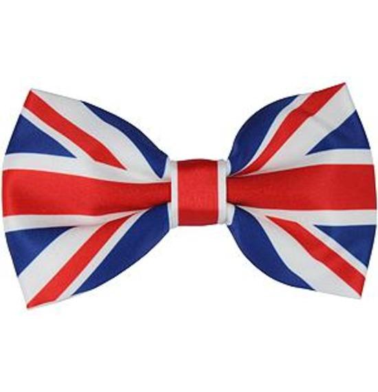 Large Union Jack Bow Tie