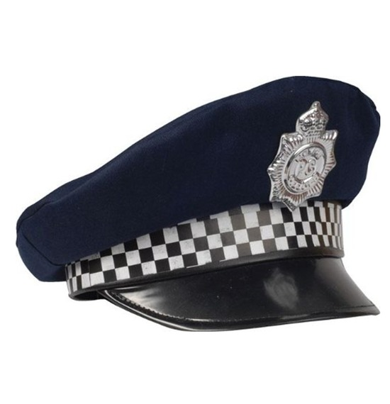 Dark Blue UK Police Hat